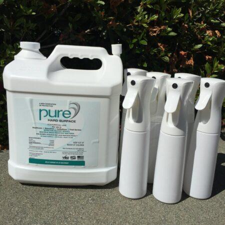 PURE® Hard Surface - 2.5 Gallon + 6 spray bottles kit
