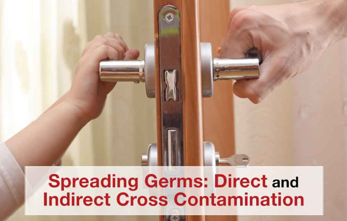 avoid cross contamination with PURE protectant antimicrobial spray